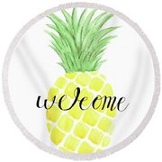 Welcome Round Beach Towel