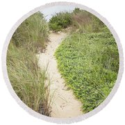 Wellfleet Sand Dunes Round Beach Towel
