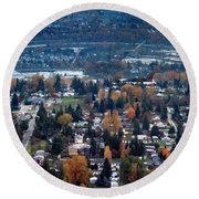 Wenatchee In November Round Beach Towel