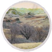 Western Edge Treasure Round Beach Towel