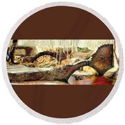 Weymouth Furnace 1802-1862 Round Beach Towel