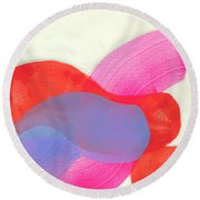 What To Say? Round Beach Towel