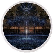 When Courage Springs Forth Round Beach Towel