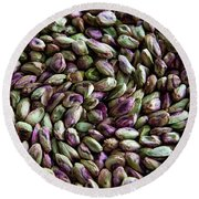 Whirling Pistachios Round Beach Towel