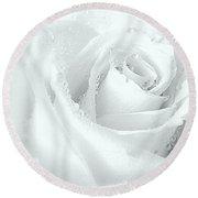White On White Round Beach Towel