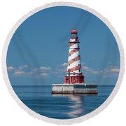 White Shoal Lighthouse 20 Round Beach Towel