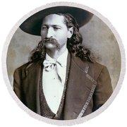 Wild Bill Hickok  1873 Round Beach Towel