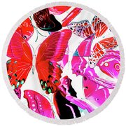 Wild Vibrancy Round Beach Towel