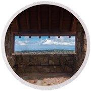 Window View - Ccc Lookout- Cedar Breaks - Utah Round Beach Towel