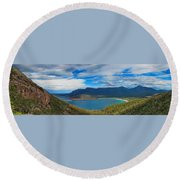 Wineglass Bay Round Beach Towel