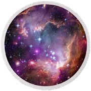 Wing Of The Small Magellanic Cloud Round Beach Towel