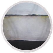 Winter Calmness Round Beach Towel