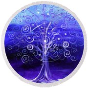Winter Tree One Round Beach Towel