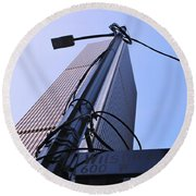 Wired Wilshire Downtown Round Beach Towel