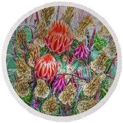 Withering Beauty Round Beach Towel