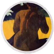 Woman By The Sea 1892 Round Beach Towel