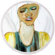 Woman On Trial Round Beach Towel