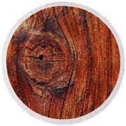 Wood Knot Round Beach Towel by ISAW Company