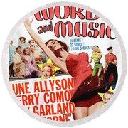 Word And Music 1948 Film Round Beach Towel