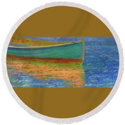 Words In The Water Round Beach Towel