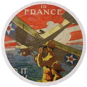 Www1 Join And Serve  Round Beach Towel