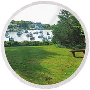 Wychmere Harbor Cape Cod Morning Round Beach Towel