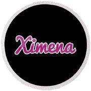Ximena #ximena Round Beach Towel