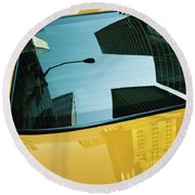 Yellow Cab, Big Apple Round Beach Towel