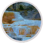 Yellowstone Mineral Deposits Round Beach Towel