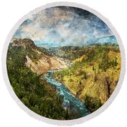 Yellowstone National Park - 05 Round Beach Towel