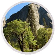 Yosemite Valley Serenity Round Beach Towel