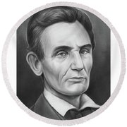 Young Lincoln Lawyer Round Beach Towel