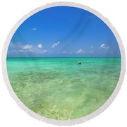 Your Dream Begins Here Round Beach Towel