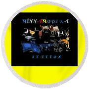 Your Friends At Minnamoolka Station Round Beach Towel