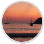 Z For Zihuatanejo Round Beach Towel
