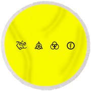 Z O S O Led Zeppelin Logo For T-shirt Round Beach Towel