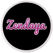 Zendaya #zendaya Round Beach Towel