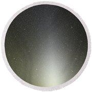 Zodiacal Light Seen From Paranal Round Beach Towel