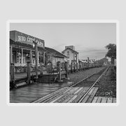 Country Train Station Greeting Card Vintage Famous Artists Studios Inc