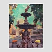 Bowling Green KY Fountain Square Painting by Nick Mantlo-Coots