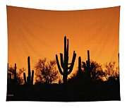 Arizona Sagurao Sunset Tapestry