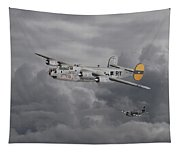 B24 Liberator  446th Bomb Group Tapestry