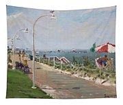 Beach Border Walk In Norfolk Va Tapestry