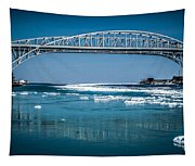 Blue Water Bridges With Reflection And Ice Flow Tapestry