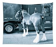 Clydesdale In Black And White Tapestry