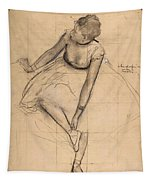 Dancer Adjusting Her Slipper Tapestry