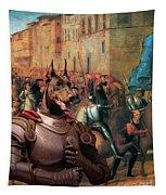 Doberman Pinscher Art -entree De Charles Viii Dans Florence Tapestry