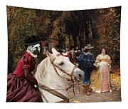 English Bulldog Art Canvas Print - Les Fiances Tapestry