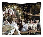 English Mastiff  - Mastiff Art Canvas Print - The Garden Party Tapestry