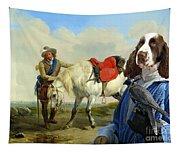 English Springer Spaniel Art Canvas Print Tapestry